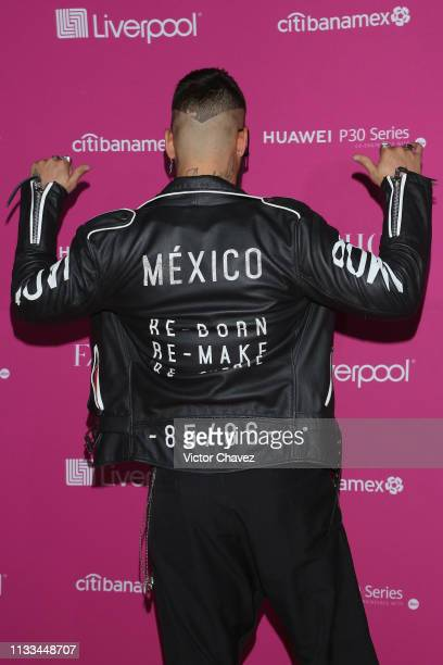 Maluma attend the Liverpool Fashion Fest Spring/Summer 2019 at Quarry Studios on March 28 2019 in Mexico City Mexico