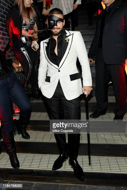 Maluma attends Heidi Klum's 20th Annual Halloween Party presented by Amazon Prime Video and SVEDKA Vodka at Cathédrale New York on October 31, 2019...