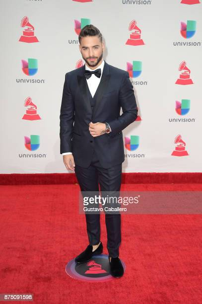 Maluma attends the 18th Annual Latin Grammy Awards at MGM Grand Garden Arena on November 16 2017 in Las Vegas Nevada