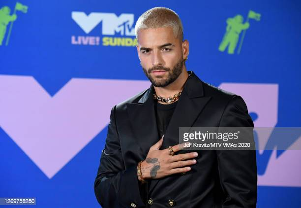 Maluma attends the 2020 MTV Video Music Awards, broadcast on Sunday, August 30, 2020 in New York City.