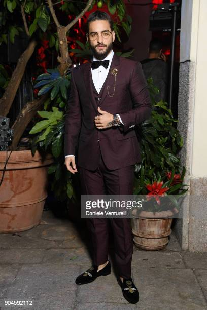 Maluma attends the Dolce Gabbana Unexpected Show during Milan Men's Fashion Week Fall/Winter 2018/19 on January 13 2018 in Milan Italy