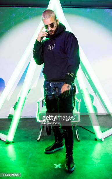 Maluma hosts fan pop-up store In New York City on May 13, 2019 in New York City.