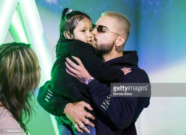 Maluma hosts fan popup store In New York City on May 13 2019 in New York City