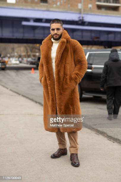 Maluma is seen on the street during New York Fashion Week AW19 wearing BOSS on February 13 2019 in New York City