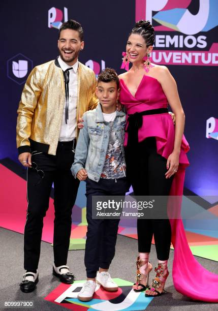 Maluma Natalia Jimenez and guest attend the Univision's 'Premios Juventud' 2017 Celebrates The Hottest Musical Artists And Young Latinos ChangeMakers...