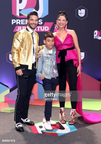 Maluma Natalia Jimenez and guest attends the Univision's 'Premios Juventud' 2017 Celebrates The Hottest Musical Artists And Young Latinos...