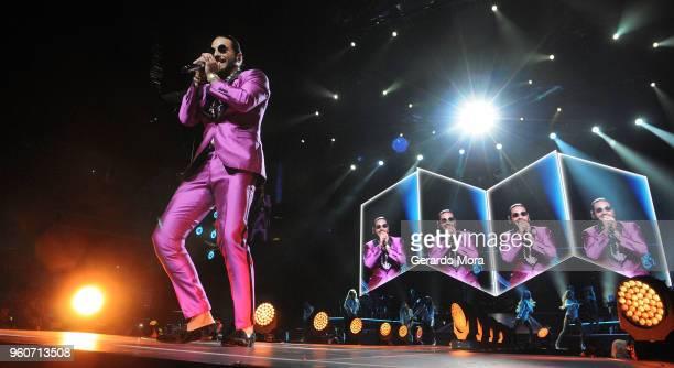Maluma performs at Amway Center on May 20 2018 in Orlando Florida