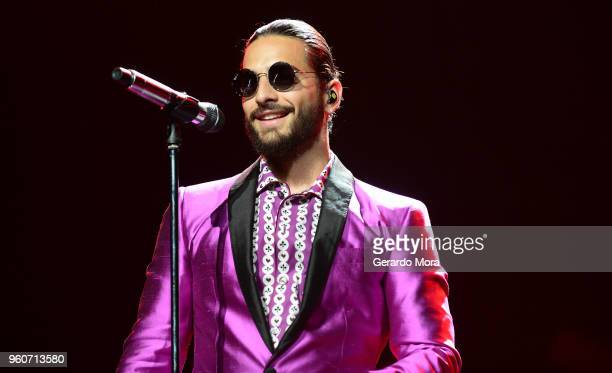 Maluma performs at Amway Center on May 20 2018 in Orlando Florida