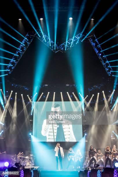 Maluma performs in concert at Palau Sant Jordi on September 17 2017 in Barcelona Spain