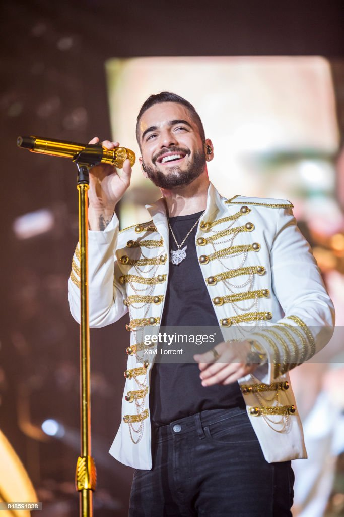 Maluma performs in concert at Palau Sant Jordi on September 17, 2017 in Barcelona, Spain.