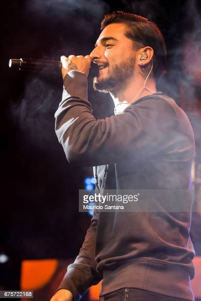 Maluma performs live on stage at Espaco das Americas on April 30 2017 in Sao Paulo Brazil