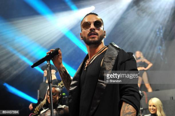 Maluma performs on stage at the O2 Shepherd's Bush Empire on September 26 2017 in London England
