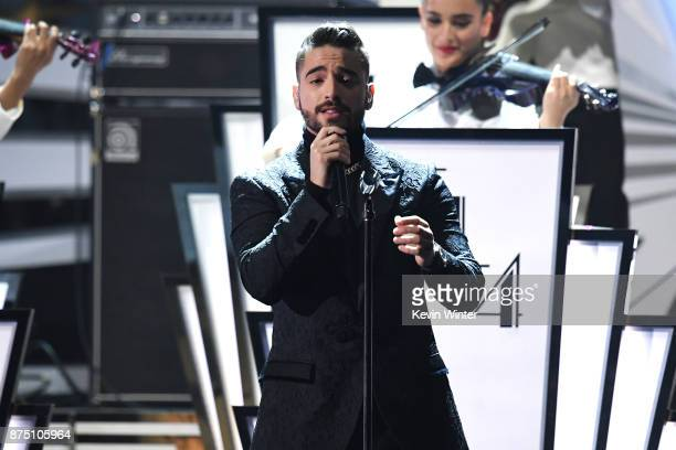 Maluma performs onstage at the 18th Annual Latin Grammy Awards at MGM Grand Garden Arena on November 16 2017 in Las Vegas Nevada