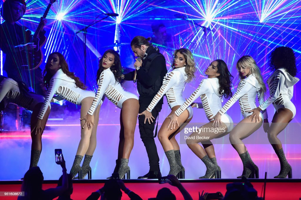 Maluma performs onstage at the 2018 Billboard Latin Music Awards at the Mandalay Bay Events Center on April 26, 2018 in Las Vegas, Nevada.