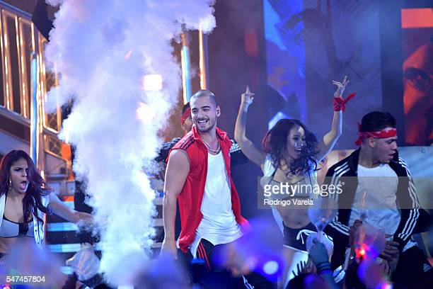 Maluma performs onstage at the Univision's 13th Edition Of Premios Juventud Youth Awards at Bank United Center on July 14 2016 in Miami Florida