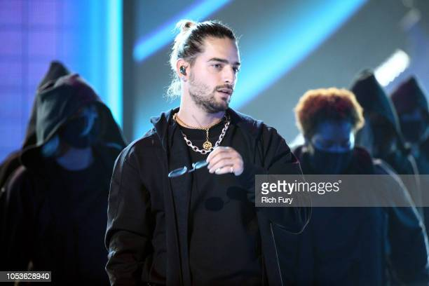 Maluma performs onstage during the 2018 Latin American Music Awards at Dolby Theatre on October 25 2018 in Hollywood California