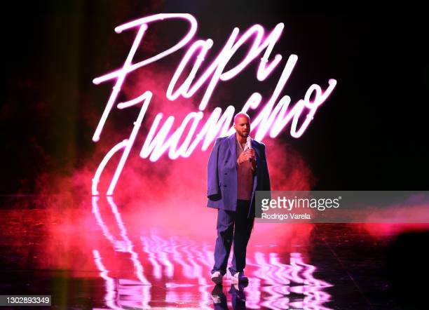 Maluma performs onstage during Univision's 33rd Edition of Premio Lo Nuestro a la Música Latina at AmericanAirlines Arena on February 18, 2021 in...