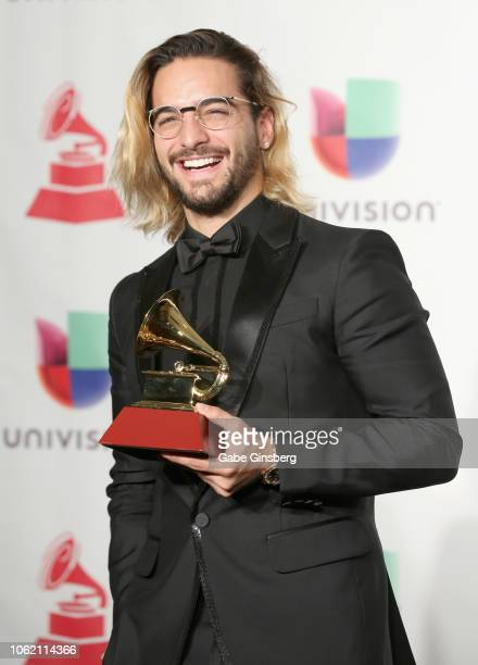 Maluma poses in the press room during the 19th annual Latin GRAMMY Awards at MGM Grand Garden Arena on November 15 2018 in Las Vegas Nevada