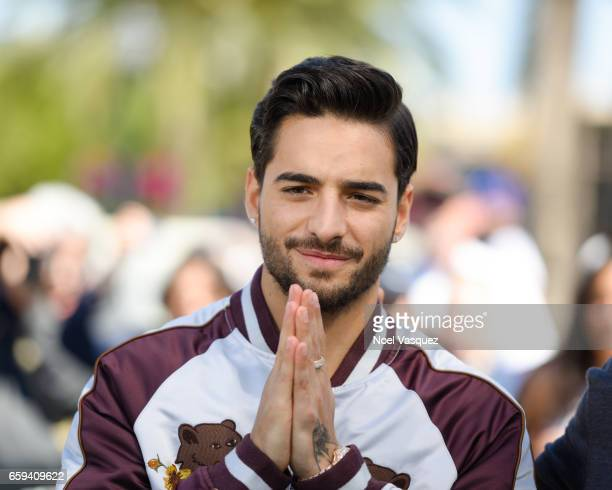 Maluma visits 'Extra' at Universal Studios Hollywood on March 28 2017 in Universal City California