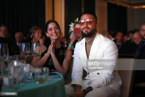 Maluma with girlfriend Natalia Barulich attend ceremony of the 2019 ASCAP Latin Music Awards at El San Juan Hotel on March 5 2019 in San Juan Puerto...