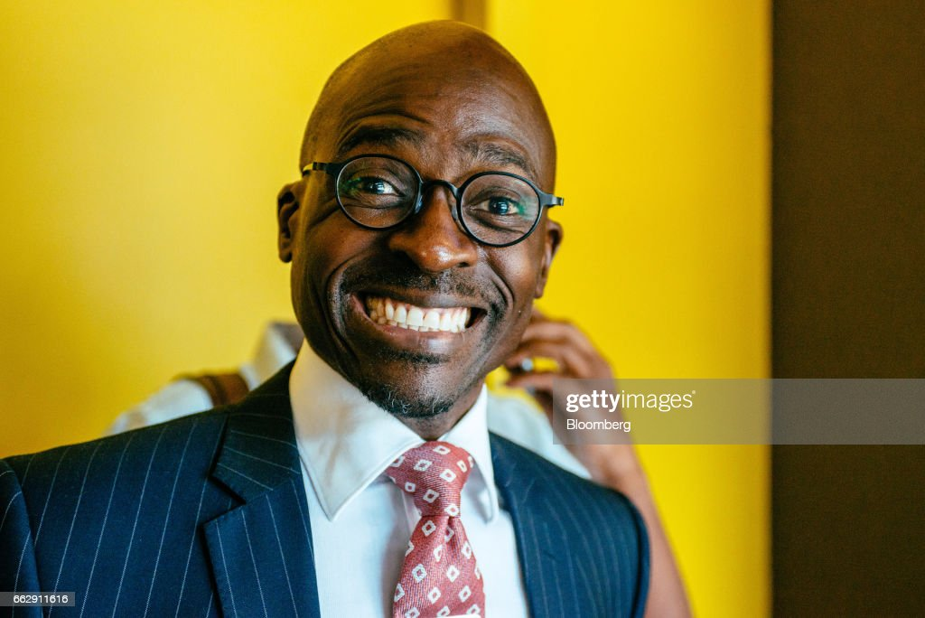 Malusi Gigaba, South Africa's finance minister, reacts as he leaves a news conference in Pretoria, South Africa, on Saturday, April 1, 2017. Gigabasaid he will use the National Treasury to push for inclusive economic growthwhile sticking within spending frameworks already put in place. Photographer: Waldo Swiegers/Bloomberg via Getty Images