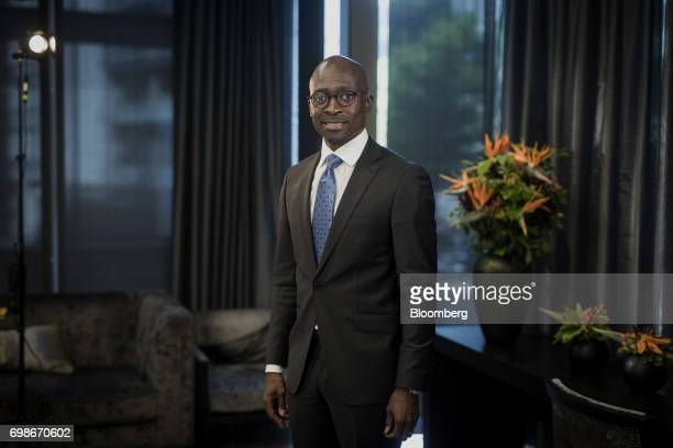 Malusi Gigaba South Africa's finance minister stands for a photograph following a Bloomberg Television interview in London UK on Tuesday June 20 2017...