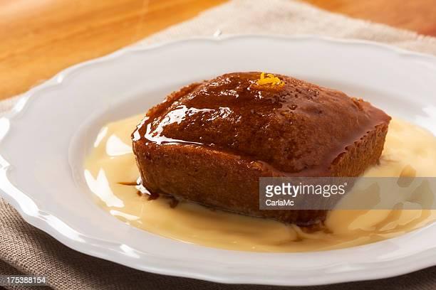 Malva pudding and custard