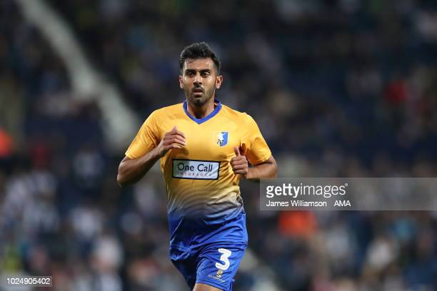Malvind Benning of Mansfield Town during the Carabao Cup Second Round match between West Bromwich Albion and Mansfield Town at The Hawthorns on...