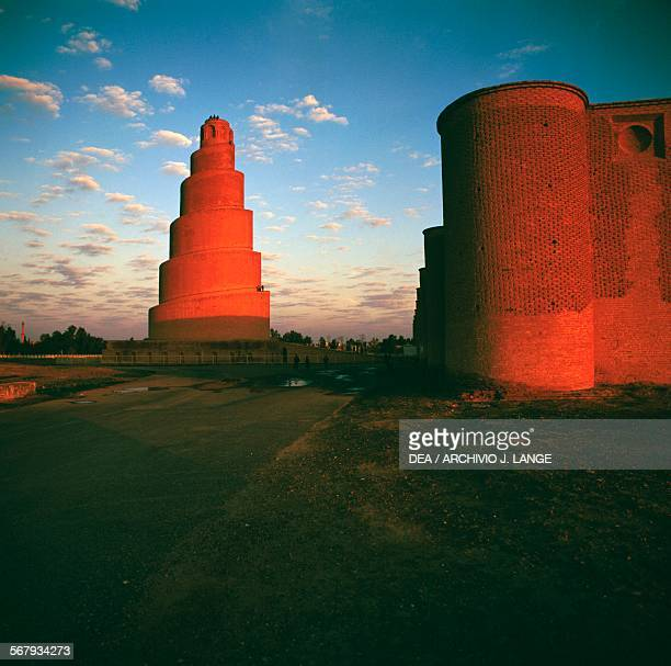 Malwiya minaret of the Great mosque of Samarra Iraq 9th century