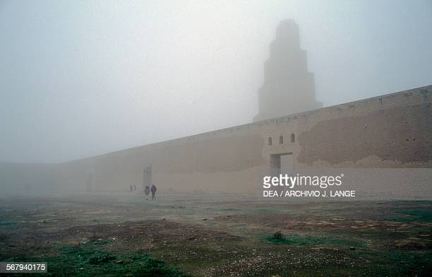 Malwiya minaret of the Great mosque of Samarra Iraq 9th century