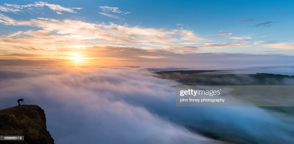 Mam Tor sunrise, Peak District : Stock Photo