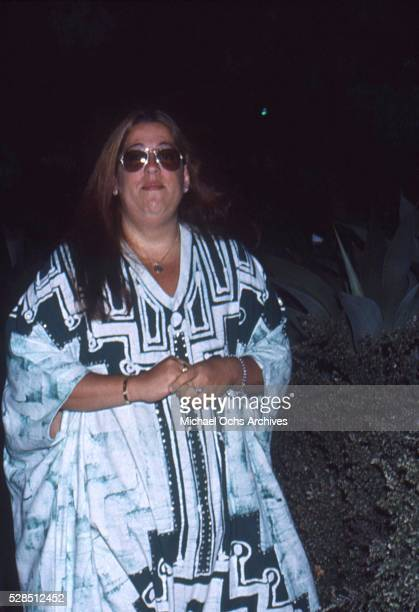 Mama Cass Elliot of the rock and roll band The Mamas And The Papas attends an event in circa 1972 in Los Angeles