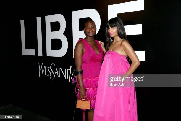 Mama Cax and Jameela Jamil attend the YSL Beauty LIBRE Launch on September 09 2019 in New York City