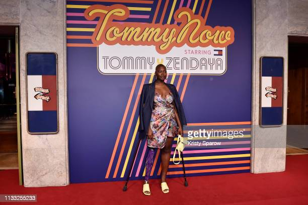 Mama Cax at the Tommy Hilfiger TOMMYNOW Spring 2019 TommyXZendaya Premieres at Theatre des ChampsElysees on March 02 2019 in Paris France