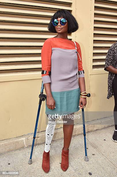 Mama Cax attends the Alice Olivia by Stacey Bendet Spring/Summer 2017 Presentation during New York fashion week at The Gallery Skylight at Clarkson...