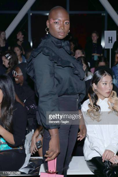 Mama Cax attends the Chromat Spring/Summer 2020 front row during New York Fashion Week The Shows at Gallery I at Spring Studios on September 07 2019...