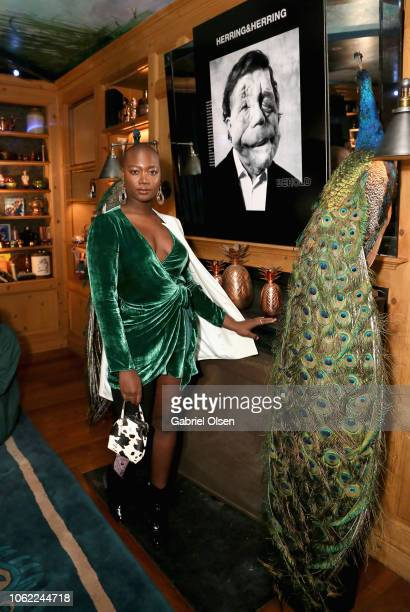 Mama Cax attends the Herring Herring Issue 5 launch party at the private residence of Jonas Tahlin CEO of Absolut Elyx on November 15 2018 in Los...