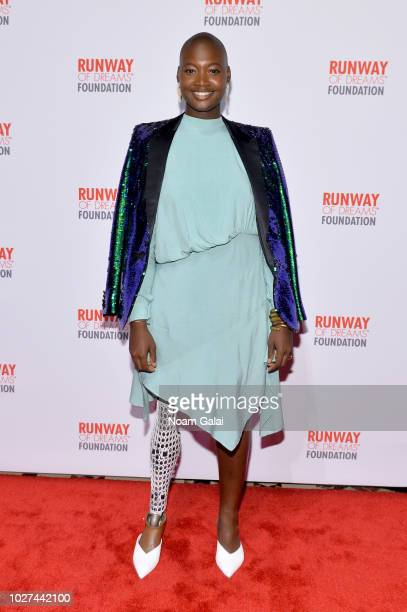 Mama Cax attends the Runway Of Dreams Foundation Fashion Revolution Event at Cipriani 42nd Street on September 5 2018 in New York City