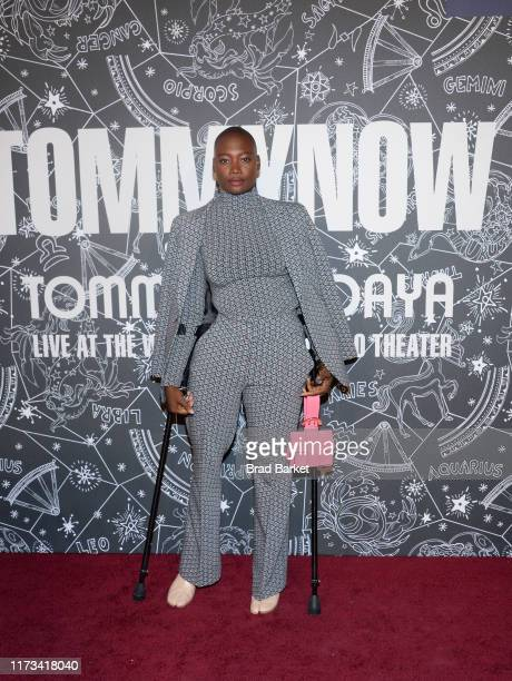 Mama Cax attends TOMMYNOW New York Fall 2019 Front Row Atmosphere at The Apollo Theater on September 08 2019 in New York City