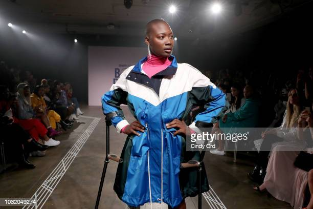 Mama Cax in Tory Sport walks the runway during Teen Vogue's Body Party Presented By Snapchat on September 11 2018 in New York City