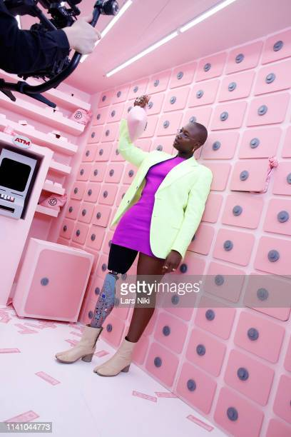 Mama Cax poses backstage at Beautycon Festival New York 2019 at Jacob Javits Center on April 07 2019 in New York City