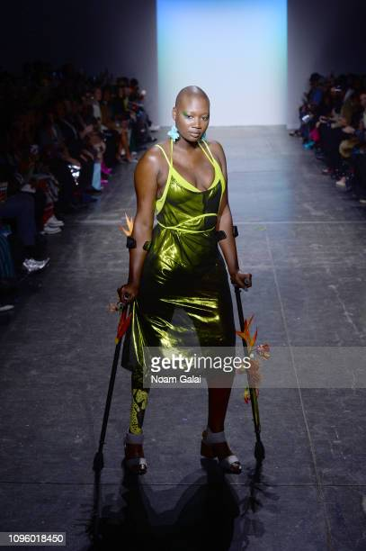 Mama Cax walks the runway for the Chromat fashion show during New York Fashion Week The Shows at Industria Studios on February 8 2019 in New York City