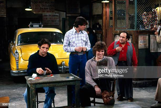 TAXI Mama Gravas Season One 2/27/79 Judd Hirsch Randall Carver Jeff Conaway and Danny DeVito on the Walt Disney Television via Getty Images...