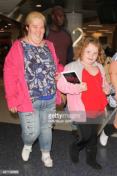 Mama June and Honey Boo Boo are seen at LAX on November 18, 2015 in Los Angeles, California.