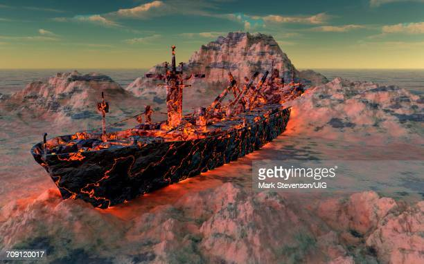 mama ship - bermuda triangle stock photos and pictures