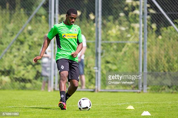 Mamadou Doucoure controls the ball during a training session on day 3 of Borussia Moenchengladbach Training Camp on July 18 2016 in RottachEgern...