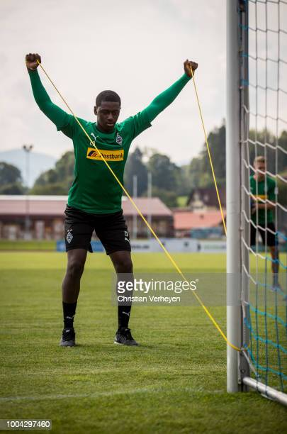 Mamadou Doucoure during a training session at Borussia Moenchengladbach Training Camp at Stadion am Birkenmoos on July 23 2018 in RottachEgern Germany