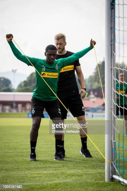 Mamadou Doucoure during a training session at Borussia Moenchengladbach Training Camp at Stadion am Birkenmoos on July 23, 2018 in Rottach-Egern,...