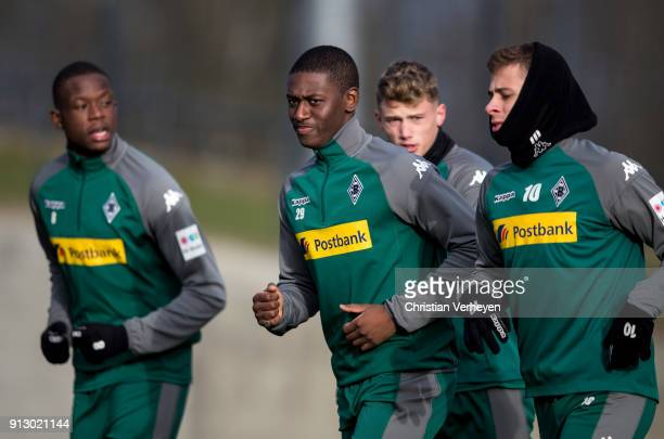 Mamadou Doucoure during a training session of Borussia Moenchengladbach at BorussiaPark on February 01 2018 in Moenchengladbach Germany