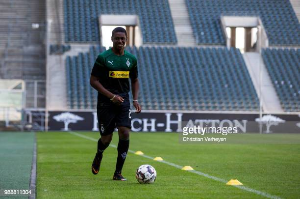 Mamadou Doucoure during a training session of Borussia Moenchengladbach at Borussia-Park on July 01, 2018 in Moenchengladbach, Germany.